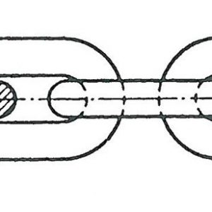 Ankerkette in Edelstahl kalibriert